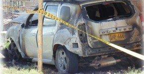 carro incinerado